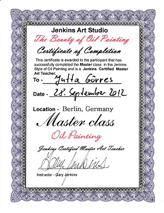 Zertifikat 2012